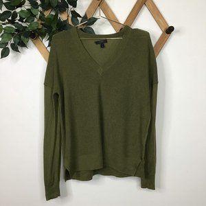 J. Crew Merino Wool Blend Knit V-Neck Sweater
